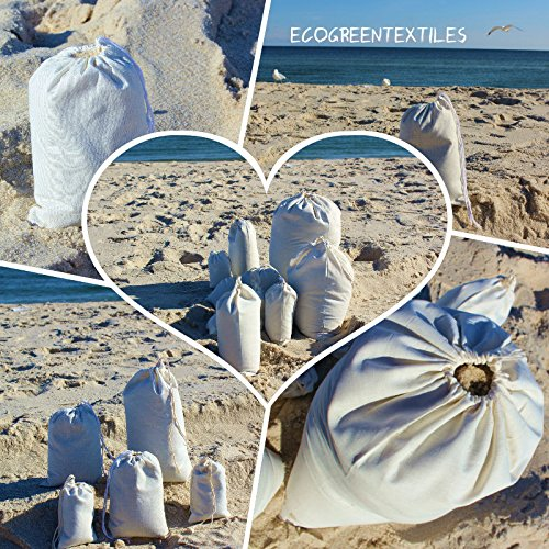 Muslin Drawstring bags '' Premium Quality '' Choose from Sizes (100 bags ) (18x20 inch) by ecogreentextiles