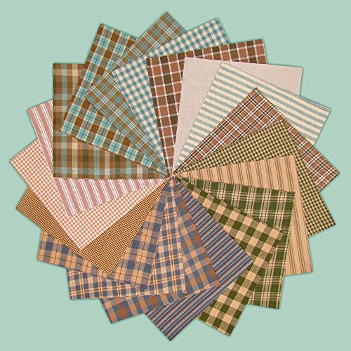 40 Soft Charm Pack, 6 inch Precut Cotton Homespun Fabric Squares by Jubilee Creative Studio