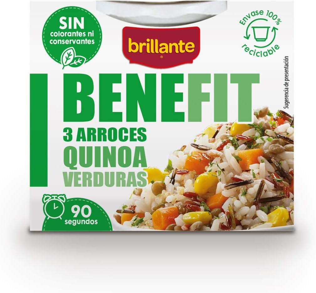 Brillante Benefit 3 Arroces, Quinoa y Verduras, 250g