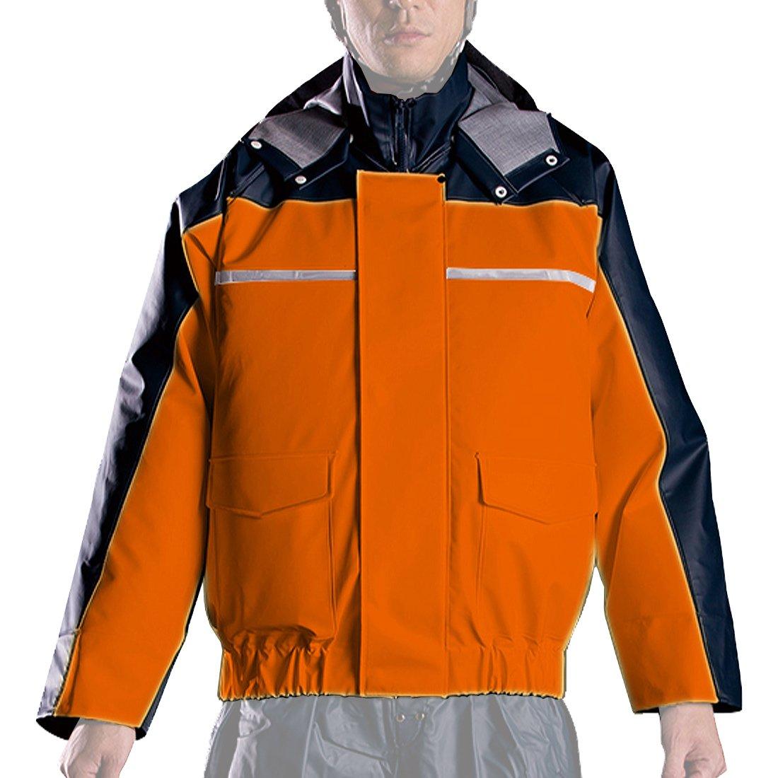 ナダレス 空調服 ブルゾン 全4色 全8サイズ レインパーカ オレンジ 4L 反射テープ付き 6097 [正規代理店品] B011C01N66 4L 4L