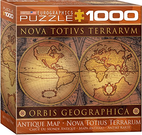 Antique Puzzle Box - EuroGraphics Map of The Ancient World Small Box Puzzle (1000 Pieces)