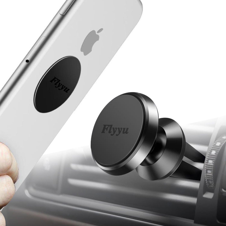 Phone Car Mount, Flyyu Universal Air Vent Magnetic Mobile Phone Car Mount Holder Cradle 360° Rotation GPS Holder for Smartphones,iPhone7 6 5 SE,Samsung,LG,HTC,Mini Tablets and More 4326592248