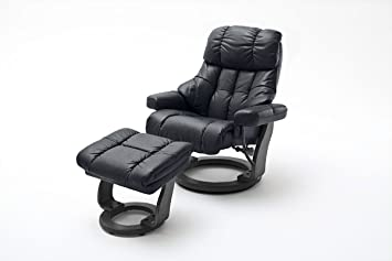 Lifestyle4living Relaxsessel Xxl Aus Leder In Beige Mit Hocker
