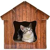 yanyaoo DIY 3 en 1 multifunción Gato Nido simulado Madera Grano Mascota casa Gato rascador Tabla Gato…