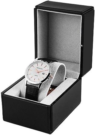 Estuche para Relojes de Piel sintética para Reloj de Pulsera, Estuche de Regalo: Amazon.es: Relojes