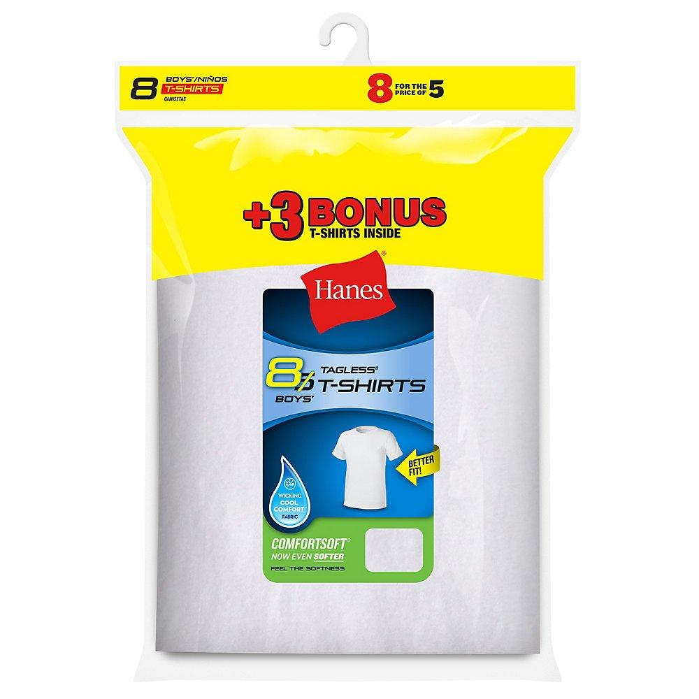 Hanes Boys ComfortSoft Crewneck Undershirt 8-Pack B213N8