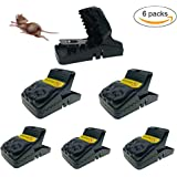 Sensphi Mouse Trap Mouse Traps that Work Indoor Power Rodent Killer Rat Traps, Sensitive Reusable and Sanitary(6 Pack)