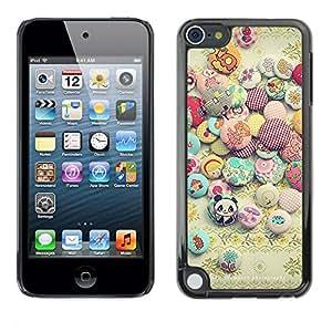 """Pulsar Snap-on Series Teléfono Carcasa Funda Case Caso para Apple iPod Touch 5 , Sun Piedras Happy Stones positivos"""""""