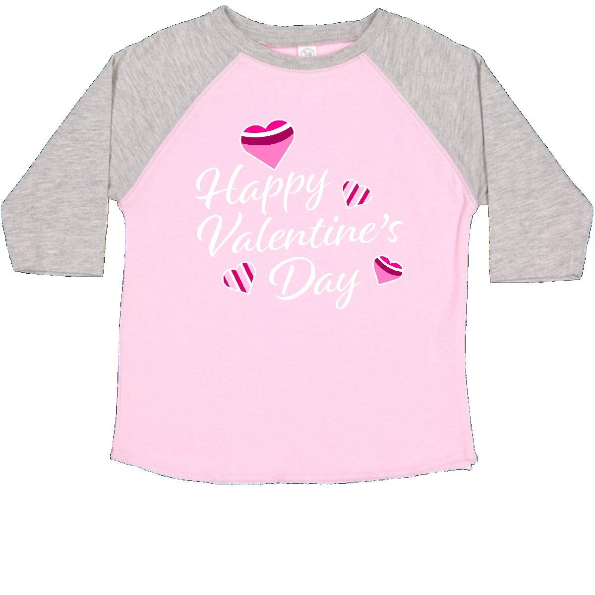 inktastic Happy Valentines Day with Colorful Hearts Toddler T-Shirt