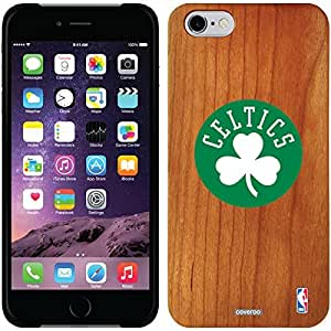 fashion case iphone 5c Madera Wood Thinshield Case with Boston Celtics Circle with Clover Design