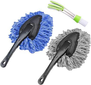 Senhai 3 Stück Auto Staubwedel Reinigungsbürste Soft Dust Tool Jinds Mini Duster Für Auto Home Küche Tastatur Auto