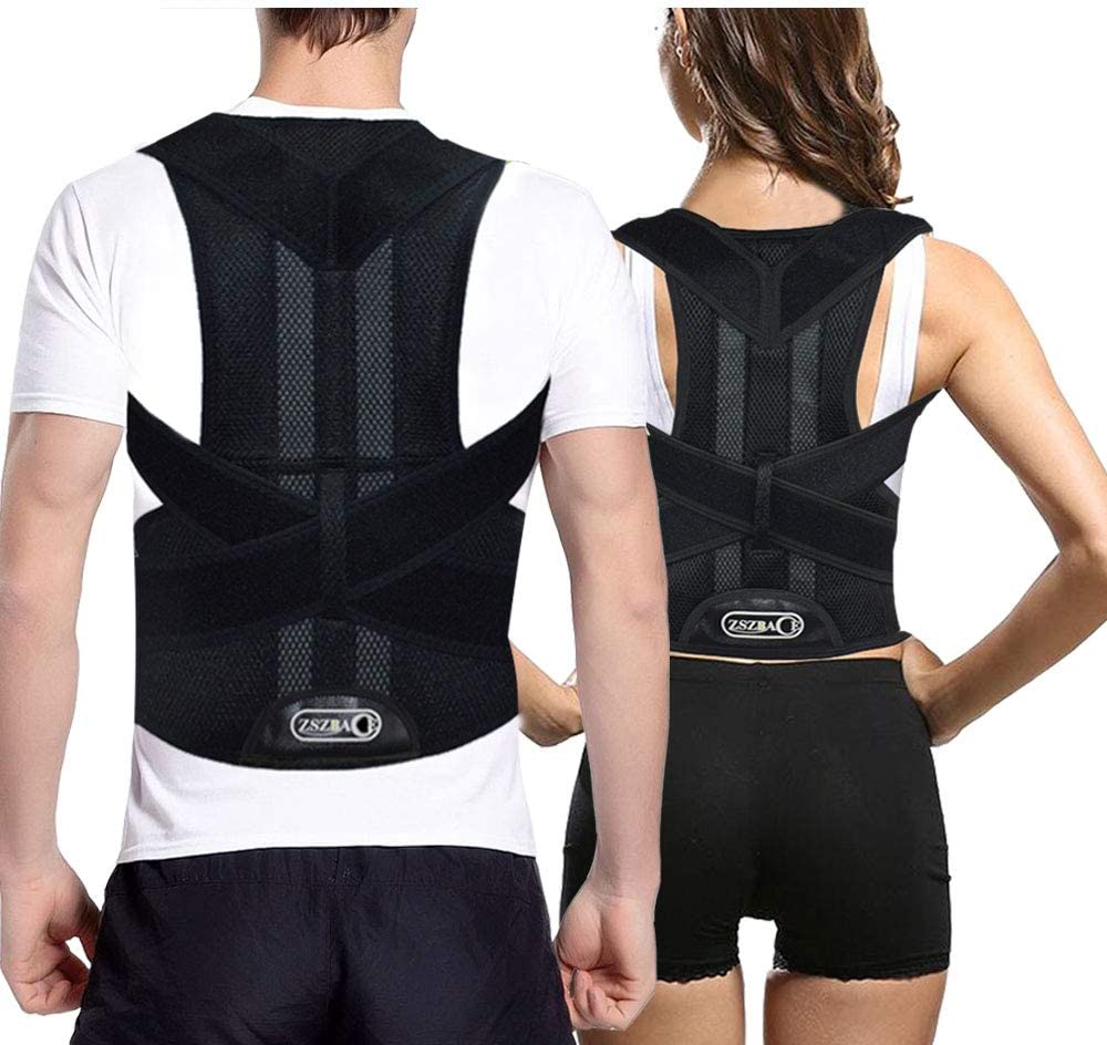 Posture Corrector & Clavicle Brace Back Brace Support | for Back Neck Shoulder Upper and Lower Back Pain Relief | Men and Women (M)