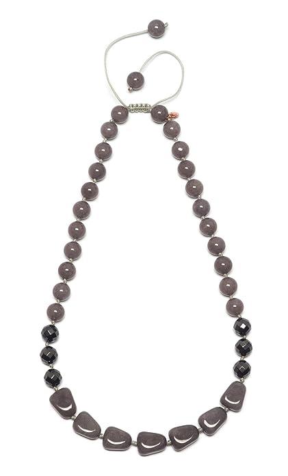 Lola Rose Women Grey Quartz Strand Necklace of Length 50cm 716352 HGZa24