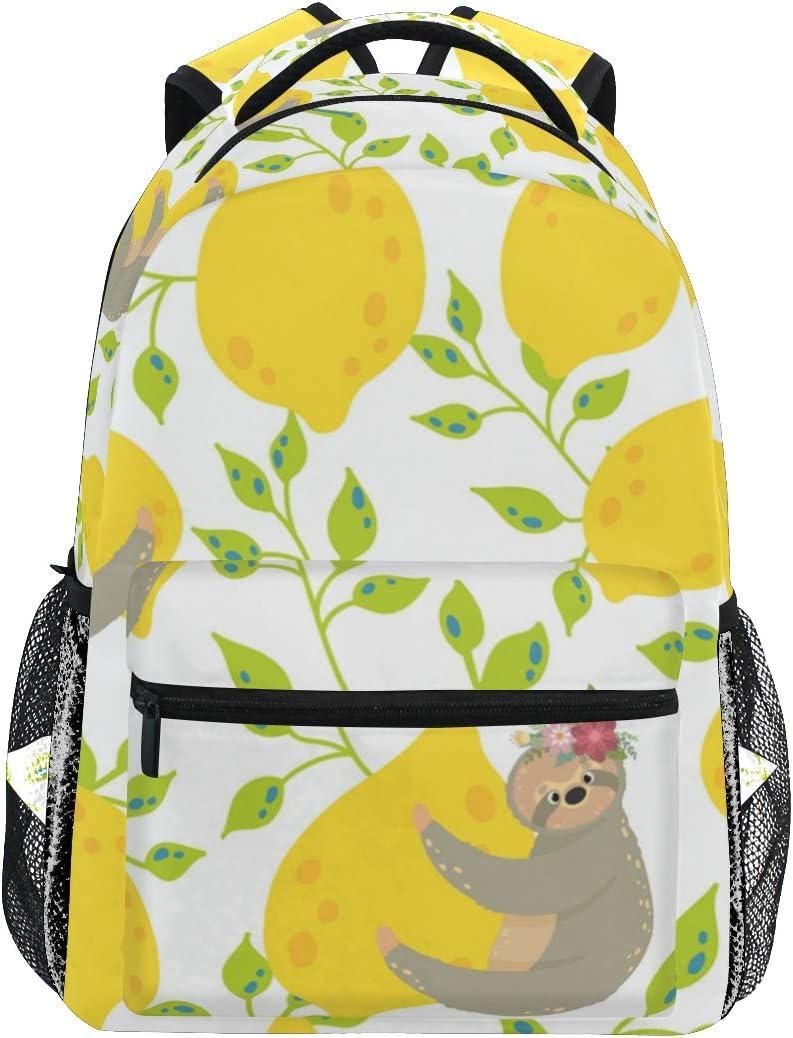 Mochila Escolar floreada de Color Amarillo limón para niños, niñas, niños, Bolsa de Viaje, Mochila