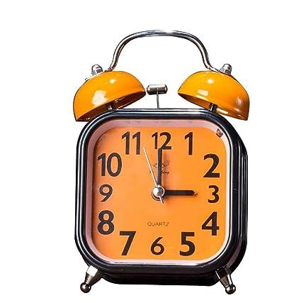 HURONG168 Despertador silencioso Sonido de Gran tamaño Lindo ...