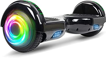 "SISIGAD Hoverboard Self Balancing Scooter 6.5"" Two-Wheel Self Balancing Hoverboard with Bluetooth Speaker and LED Lights..."