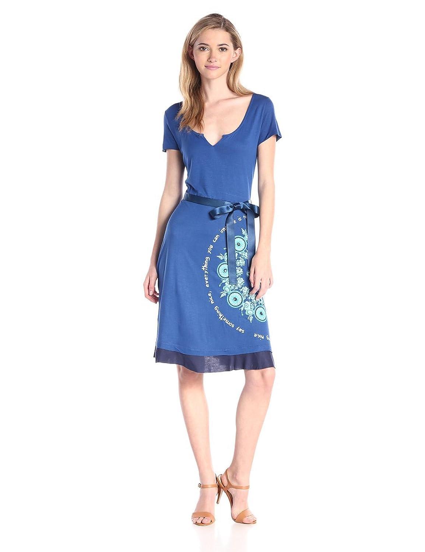 Taobacaung Women's Mini Dress Blue