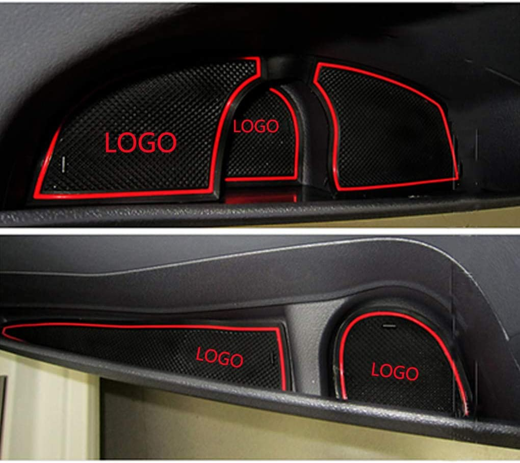 Bomcomi 6pcs Replacement for Mondeo 2007-2013 Non-slip Door Groove Mat Gate Slot Pad Cup Cushion Accessory Cover