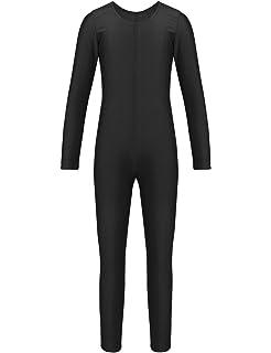 BODYWEAR LTD Kids Shiny Lycra Sleeveless Unitard Bodysuit Dance Gymnastics Swimming PE Leotard