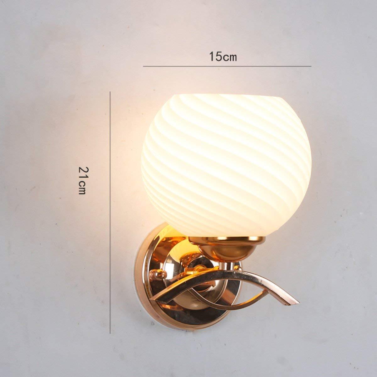 EMLIF Home Mode Einfache Wandleuchte Moderne Kreative Wohnzimmer Gang Bett LED Gold Wandleuchte (Farbe   B)