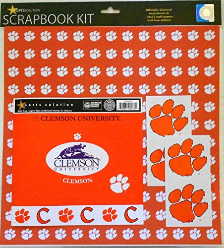 (Sports Solution Clemson Tigers Scrapbook Page Kit )