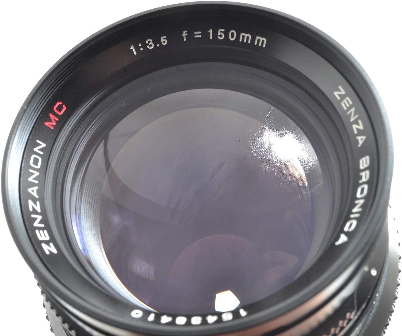 ZENZA BRONICA ZENZANON MC 150MM F 3.5 LENS WITH REAR CAP