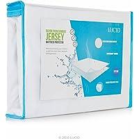 Lucid® Super Suave rayón de bambú Jersey–Protector de colchón Impermeable–Polvo y ácaros de protección