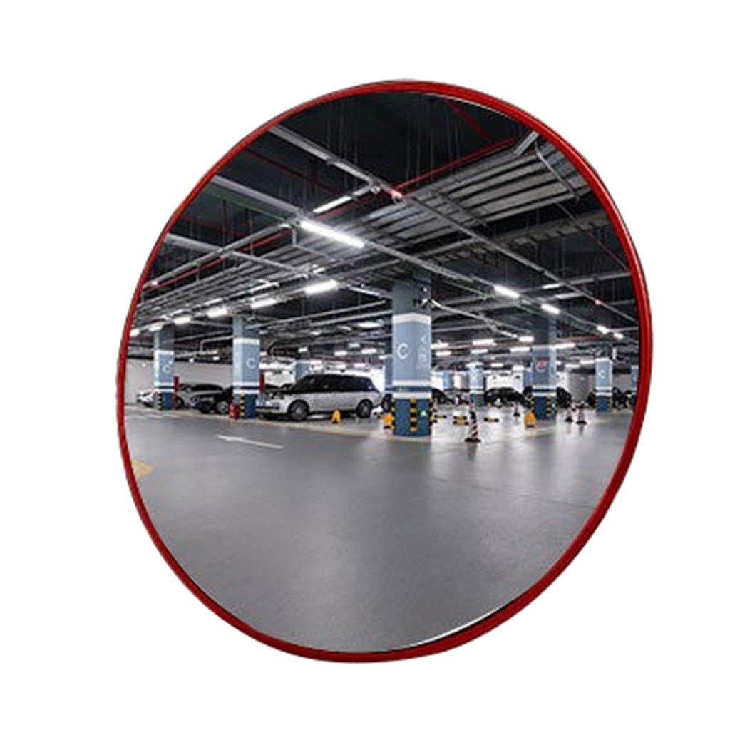 GXFC Convex Security Mirror, for Lanes, garages and Warehouse Blind Spots or Corners of Shops and Offices, with Adjustable Brackets, Indoor and Outdoor