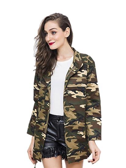 Motif Camouflage En Coton Blazer Gabardine Classique Manteau Koobea nIxfqZwO0w