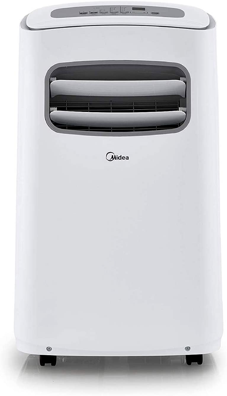 Midea Smart 3-in-1 Portable Air Conditioner, Dehumidifier, Fan for Medium Rooms up to 275 sq ft 12,000 BTU (6,500 BTU SACC) control with Remote, Smartphone or Alexa