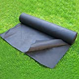 OriginA 2.3Oz Premium Weed Control Fabric Ground Cover Weed Barrier Eco-Friendly for Vegetable Garden Landscape,Non woven Fabric,3x25ft,Black