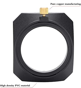 Camera Lens Protector Hood Accessory 46mm Square Shape Screw Mount Universal