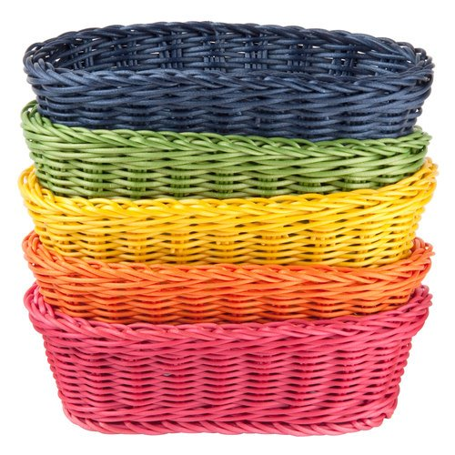 (TableCraft Products HM1174A Basket, PP, Oval, Assorted, 9.25