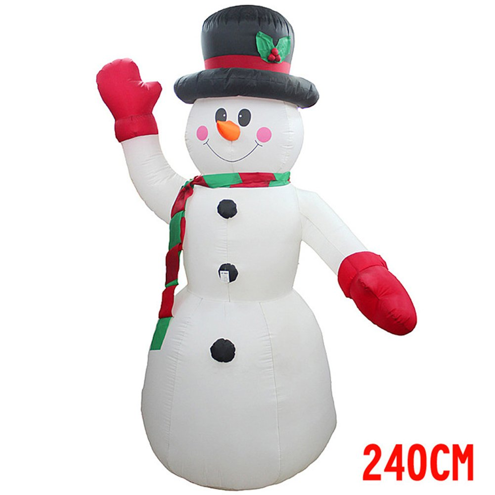 GUCHIS Giant Christmas Inflatable Santa Claus Snowman Xmas Airblown Decoration for Indoor Outdoor Garden 94.5 inch and 70.1 inch by GUCHIS