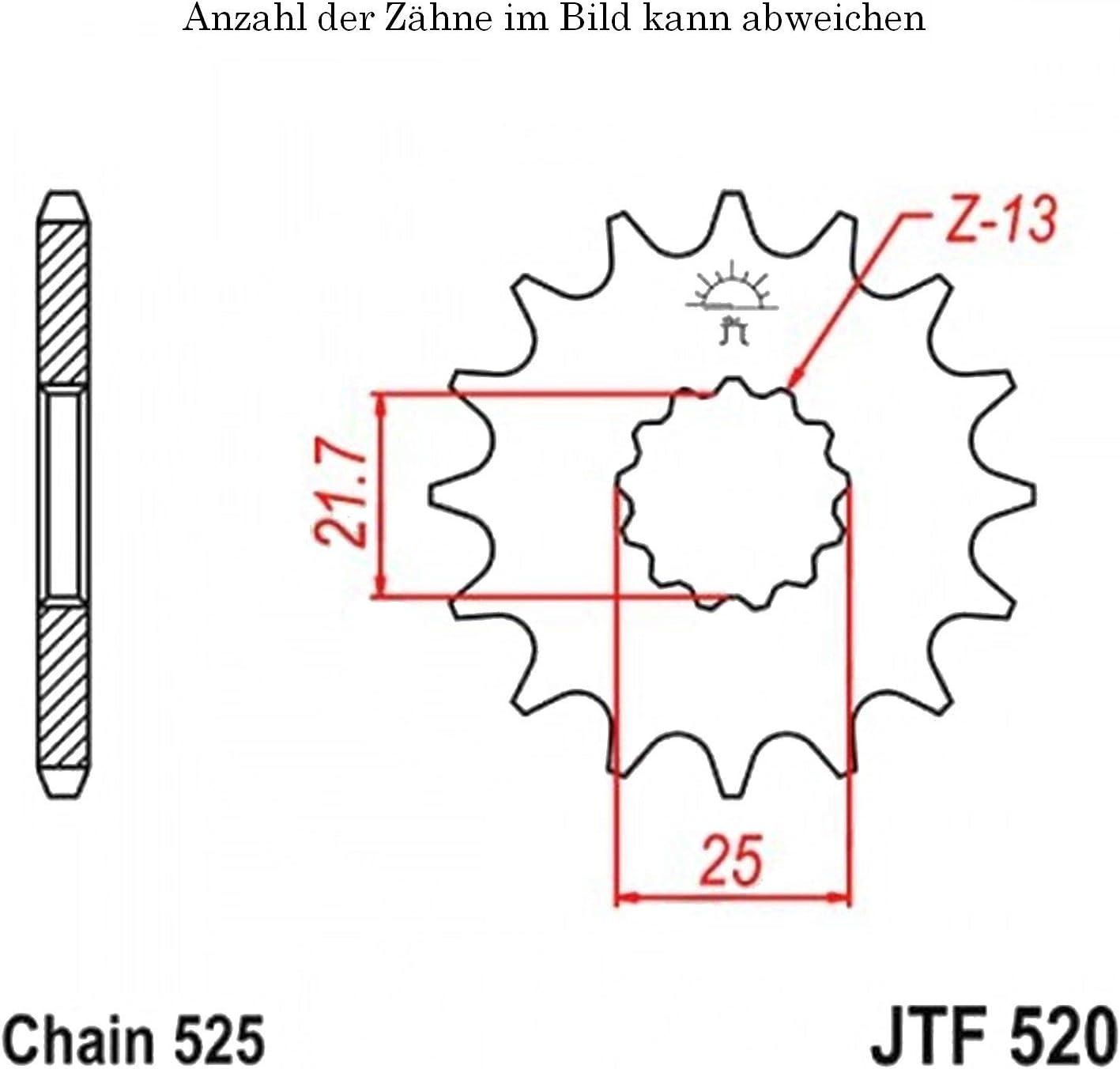 Ritzel 14 Z/ähne f/ür GSX-R 600 X Anniversary Baujahr 2005 von jtSprockets