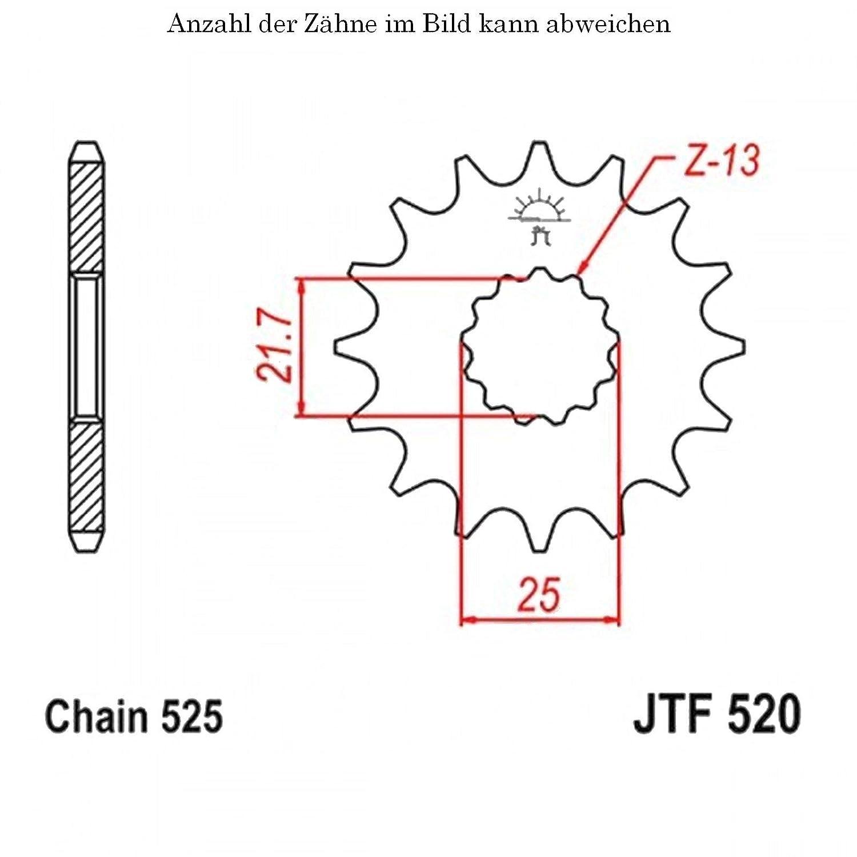 Ritzel 16 Z/ähne f/ür Tiger 800 ABS Baujahr 2011-2014 von jtSprockets