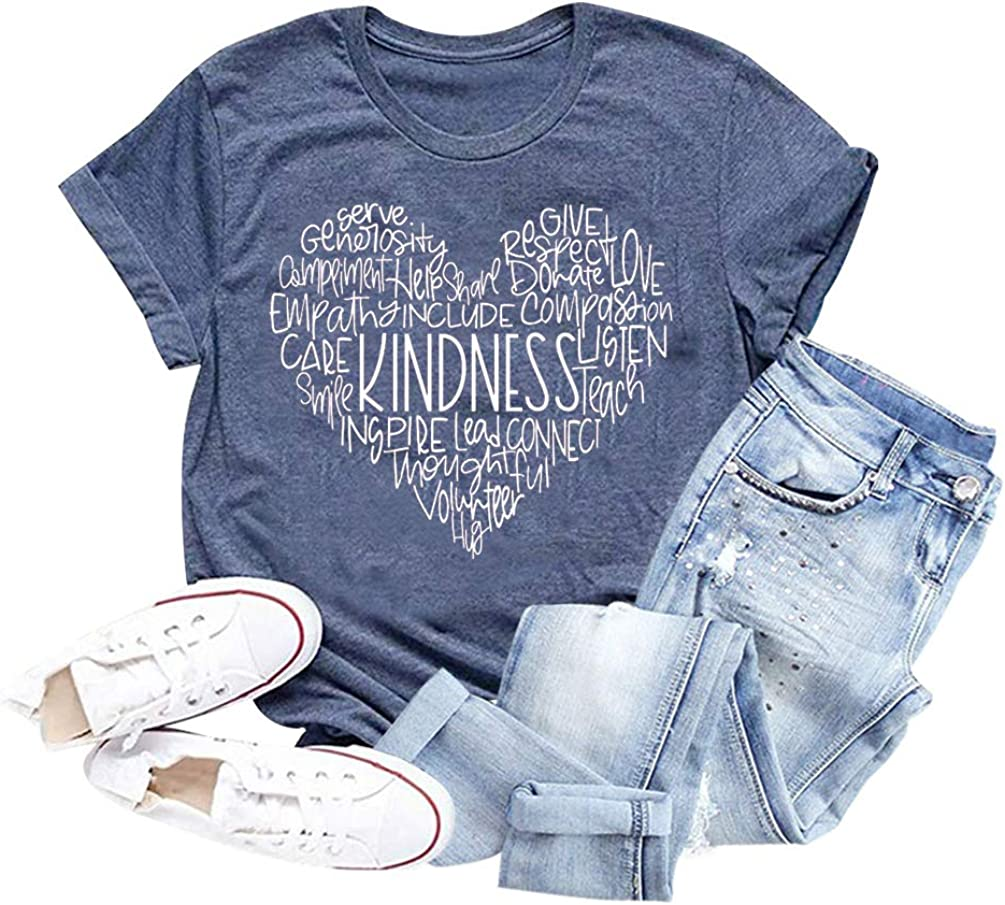 Be Kind Be Mindful Shirt Love Shirts,Positive Quotes Inspirational Shirts Women,Kindness Grateful Shirts Women Graphic Tee,Positive Vibes