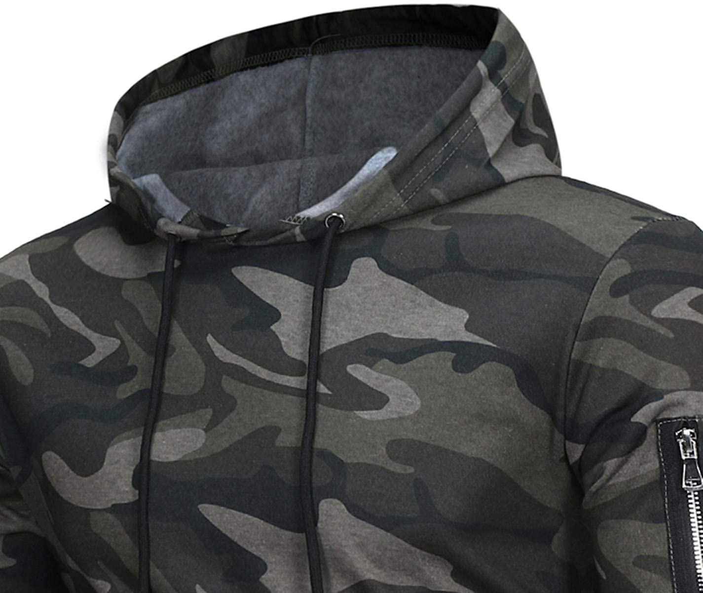 NnPWW Men Fashion Camouflage Sweatshirt Tracksuit Casual Pullover Hooded Christmas