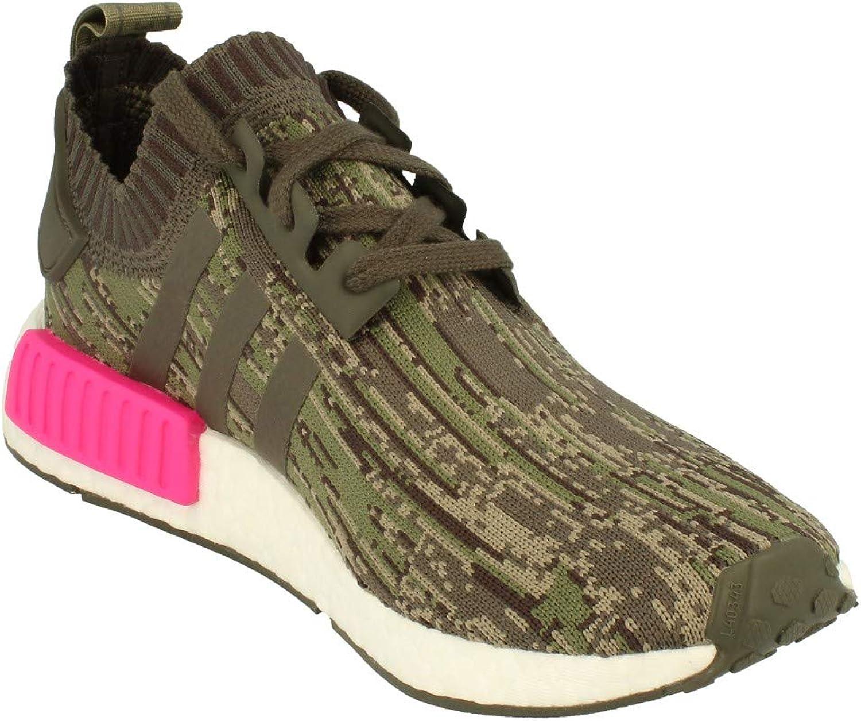 adidas Damen NMD_r1 Primeknit Sneaker Utility Green Pink Bz0222