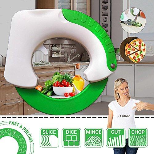 iTsiBan--Bolo Rollmesser, revolutionäre Küchenmesser , ergonomisches Design macht effizienter in allen Zutaten, schützt Ihr Handgelenk -