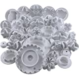Premium 32 Pc Plunger Cookie Cutter Set by Kurtzy- Various Designs- Perfect For Cake Decorating, Sugar craft, Fondant and Icing- Designed for Both Home and Professional Use by Men, Women and Kids
