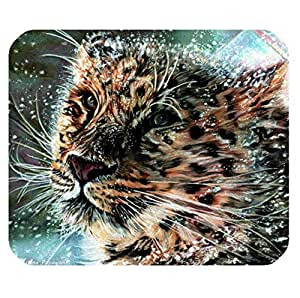 Lazy Leopard logo Office Non-Slip Rubber Mousepad by ruishername