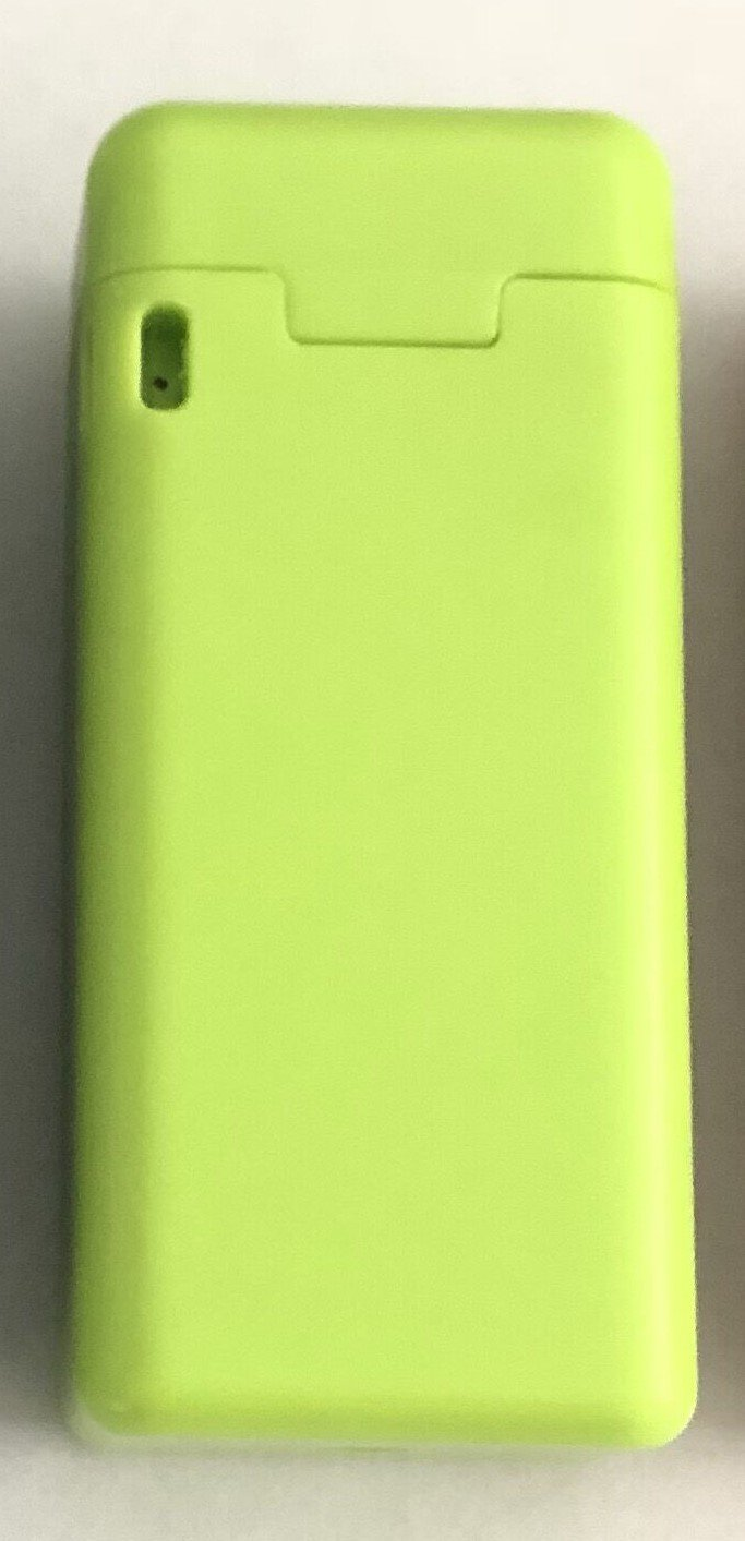 Reusable Stainless Steel Folding Drinking Straw in a Hard Case with Cleaning Squeegee Included (Lime Green)