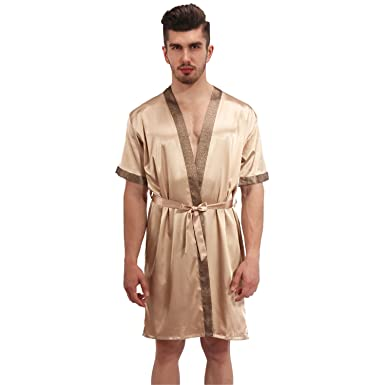 0ae44bce5ac2 Dormery Men Women s Pajamas Nightwear Sexy Sleepwear Lingerie Sleepshirts  Nightgowns Sleeping Dress Good Nightdress Lover s Champagne