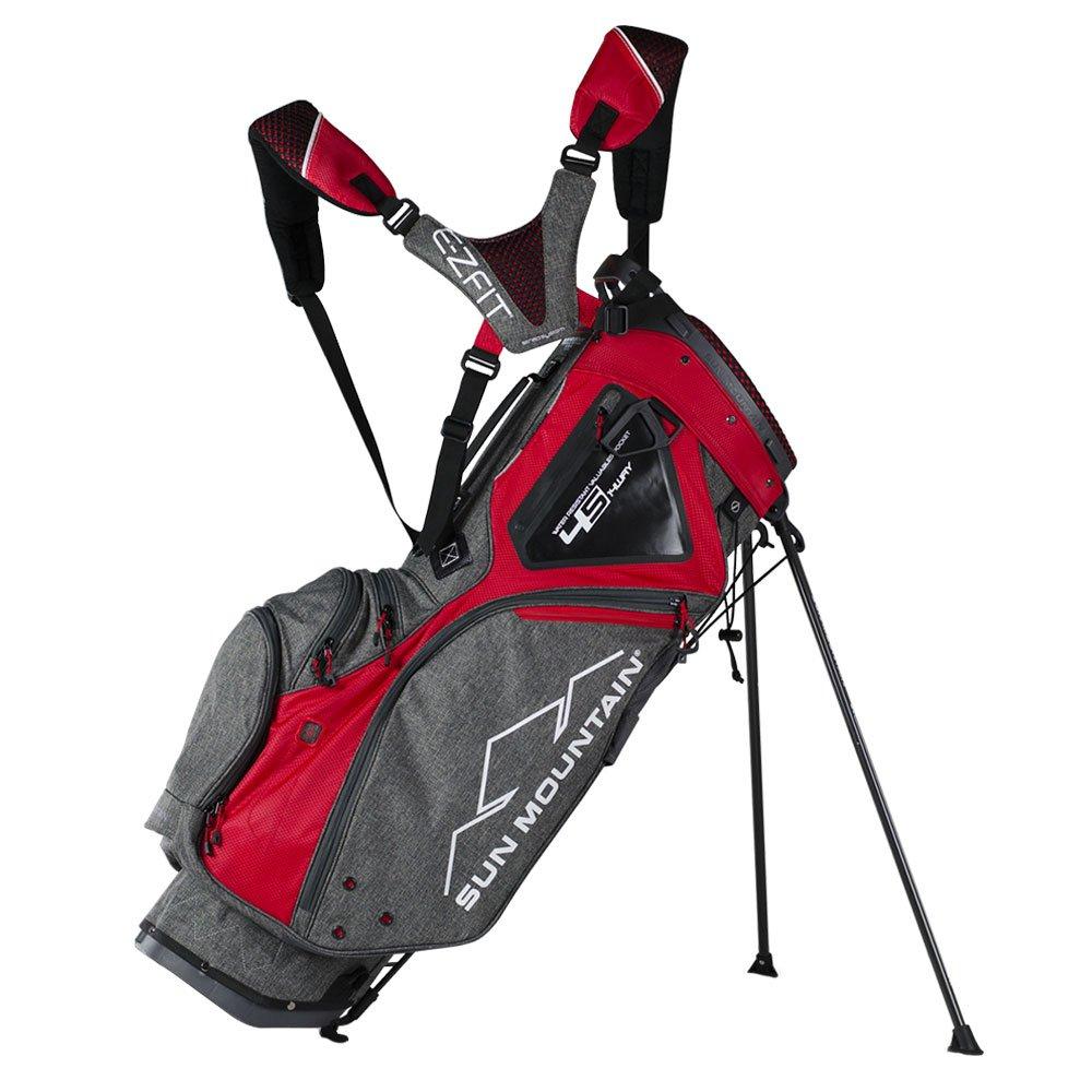 Sun Mountainゴルフ2018 4.5 14-wayスタンドゴルフバッグ  Iron/Red B074KKS3P3