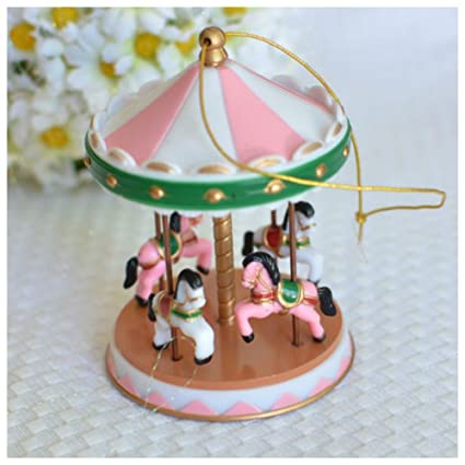 Amazon com: Pink Circus Carousel Cake Topper for Baby Showers