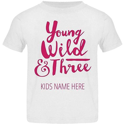 d97e6dea Customized Girl You, Wild, Three Year Birthday: Basic Jersey Toddler T-Shirt