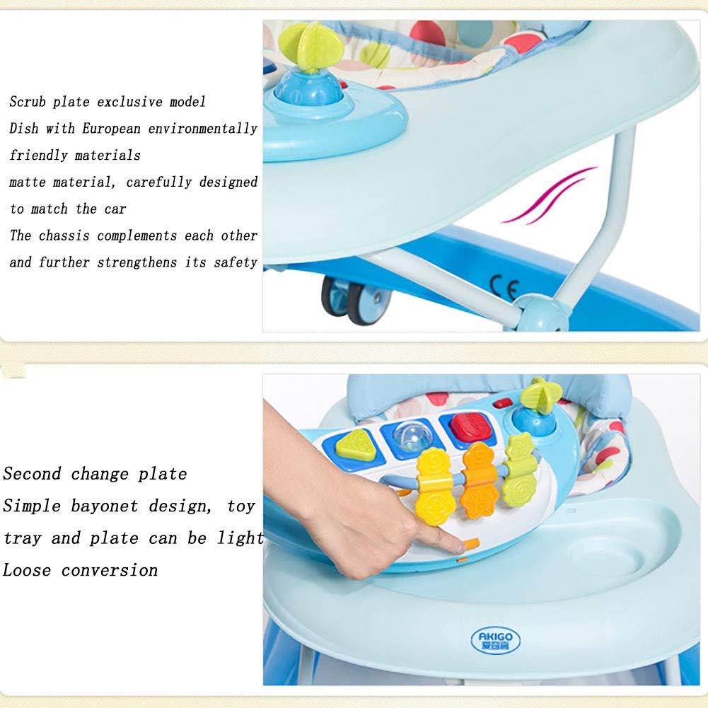 ZLMI Baby Walker Anti-Rollover Multi-Función Música Niño ...