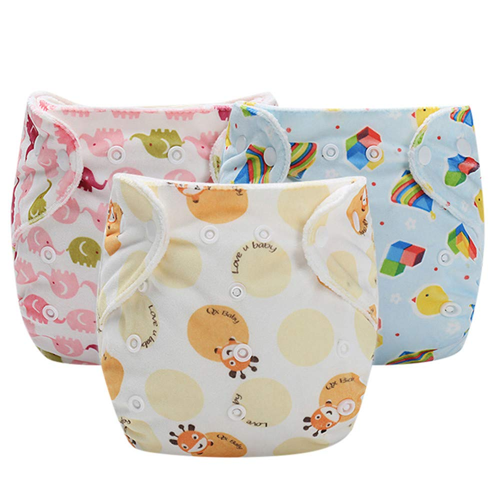 Finebo Baby Infant Kid Training Pants Potty Training Underwear Nappy Pants Reusable Adjustable Diaper Washable Nappies