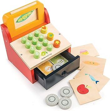 Tender Leaf Juego Aprendizaje Caja registradora de Madera, Multicolor: Amazon.es: Juguetes y juegos